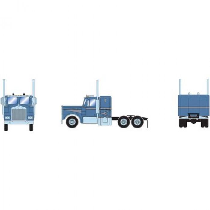 Athearn RTR KW Tractor Metallic Blue & Silver