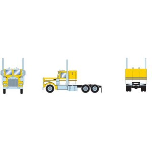 Athearn RTR Kenworth Tractor, Yellow/White