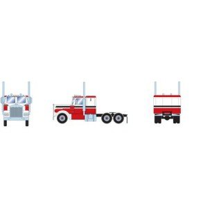Athearn RTR Kenworth Tractor, Red/White/Black