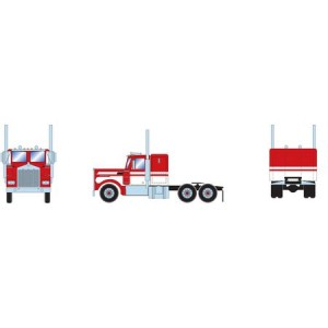 Athearn RTR Kenworth Tractor, White/Red