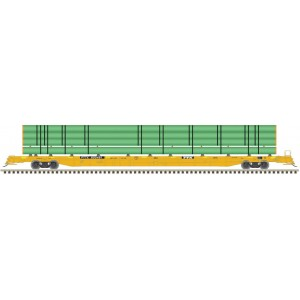 Atlas Model Railroad Co. ACF 89' F89-J Flatcar with Deck Risers and Pipe Load