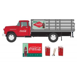 Classic Metal Works 1955 Chevy Stakebed Truck, 1950's Soda Machines, Hand Truck and Sign