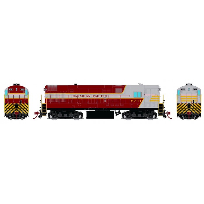 Rapido HO Scale H16-44 CP Maroon & Grey with Block Lettering DC