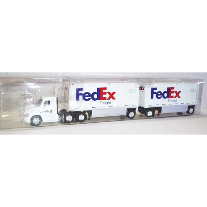 Trucks n Stuff Freightliner Cascadia Tractor with 2 Dry Van Trailers