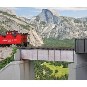 Walthers Cornerstone 50' Single-Track Railroad Deck Girder Bridge