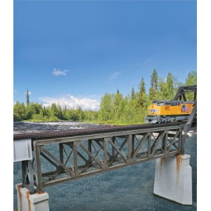 Walthers Cornerstone 109′ Single-Track Pratt Deck Truss Railroad Bridge