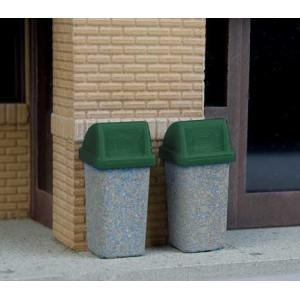 Walthers SceneMaster Modern Trash Cans pkg(24)