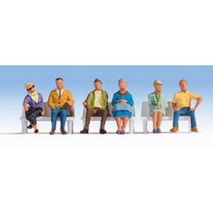 Walthers SceneMaster Seated People pkg(6)